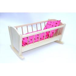 Dřevěná kolébka pro panenky přírodní