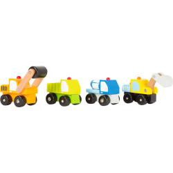 Small Foot Dřevěná autíčka stavební stroje 1 ks