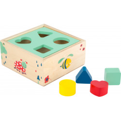 Small Foot Motorické hračky lesní krabička vkládání tvarů