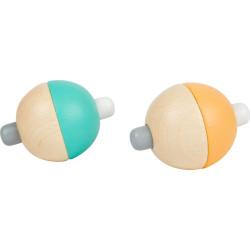 Small Foot Pískající pastelový míček 1 ks tyrkysová