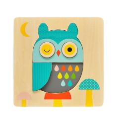 Petitcollage Dřevěné puzzle sova