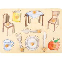 Small Foot Dřevěné puzzle Každodenní objekty