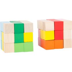 Displej - Dřevěná barevná skládací kostka 1 ks zelená