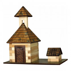 Walachia Dřevěná slepovací stavebnice Zvonice a studna
