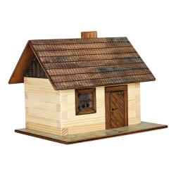 Walachia Dřevěná slepovací stavebnice Roubená chaloupka