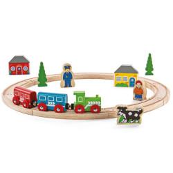 Bigjigs Rail Moje první vláčkodráha 20 dílů