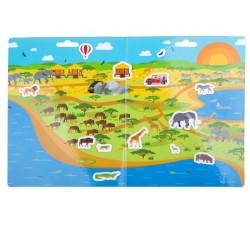 Bigjigs Toys Znovu použitelné samolepky safari