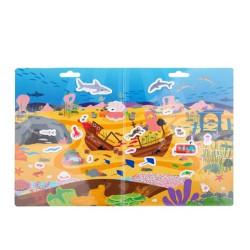 Bigjigs Toys Znovu použitelné samolepky dobrodružství v moři