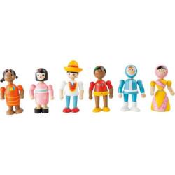 Small Foot Flexibilní dřevěná figurka lidé všech národností 1 ks