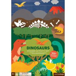 Petitcollage Znovu použitelné samolepky se scénou Dinosauři
