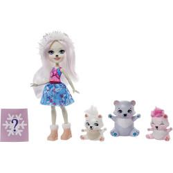 Mattel Enchantimals rodinka - Pristina Polar Bear s medvědí rodinkou - polární medvědi