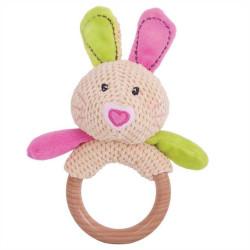 Bigjigs Baby Chrastítko kroužek králíček Bella