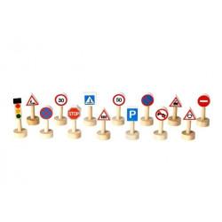 Plan Toys SET közlekedési jelzőtáblák és lámpák