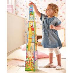 Haba stacking CUBES Rapunzel - LÁNY a toronyban