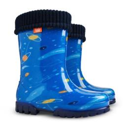 Demar Stormer lux PRINT T (modrý vesmír) - Dětské gumáky