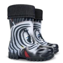 Demar Twister lux PRINT S (zebra) - Dětské gumáky