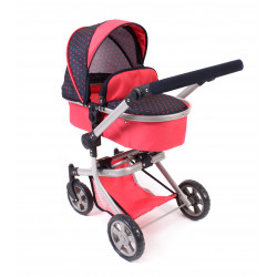 Bayer Chic Puppe Buggy MIKA RED DOTS