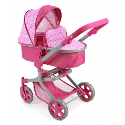 Bayer Chic Puppe Buggy MIKA PINK DOTS