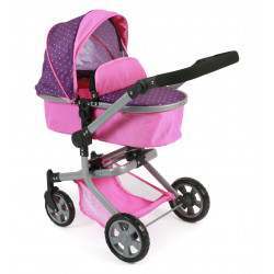Bayer Chic Puppe Buggy MIKA PURPLE PINK DOTS