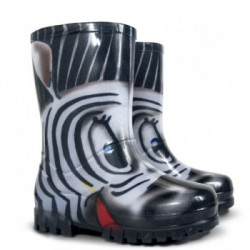 Demar Twister PRINT S (zebra) - Dětské gumáky