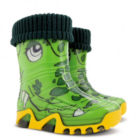 Demar Stormer Lux PRINT B (krokodýl) - Dětské gumáky