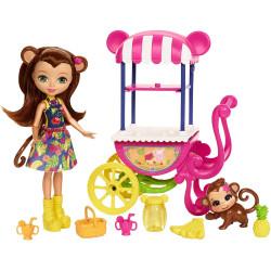 Mattel Enchantimals set na kolech - ovocný stánek