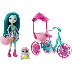 Mattel Enchantimals set na kolech - tříkolka s želvičkou