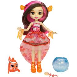 Mattel Enchantimals Vodní svět panenka a zvířátko Clarita Clownfish & Cackle
