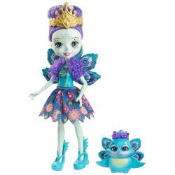 Mattel Enchantimals Panenka se zvířátkem Patter Peacock & Flap