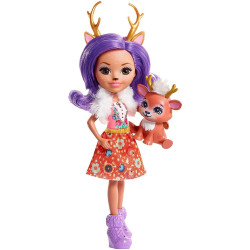 Mattel Enchantimals Panenka se zvířátkem Danessa Deer & Sprint
