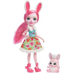 Mattel Enchantimals Panenka se zvířátkem Bree Bunny & Twist