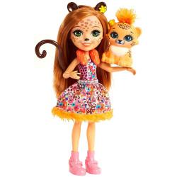 Mattel Enchantimals Cherish Cheetah baba Quick-Quick barátjával