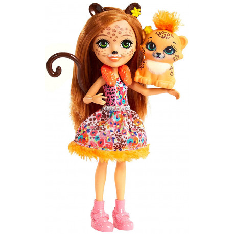 Mattel Enchantimals Panenka se zvířátkem Cherish Cheetah & Quick - Quick