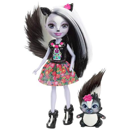 Mattel Enchantimals Panenka se zvířátkem Sage Skunk & Caper