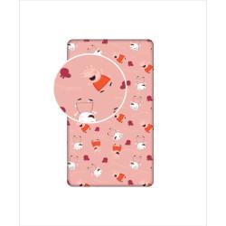 Jerry Fabrics prostěradlo Prasátko Pepina 028, 90 × 200