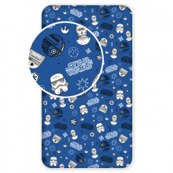 Jerry Fabrics prostěradlo Star Wars blue galaxy 90 × 200