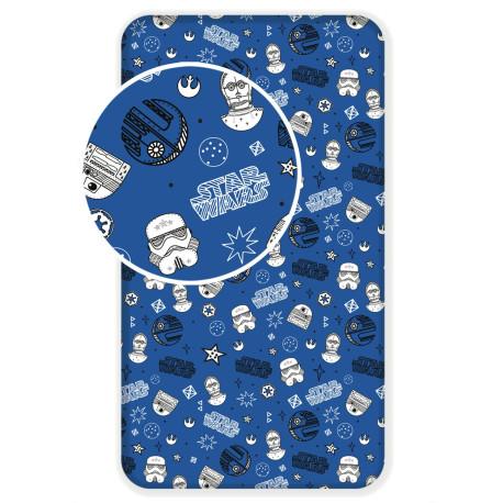 Jerry Fabrics prostěradlo Star Wars blue galaxy 90 × 200