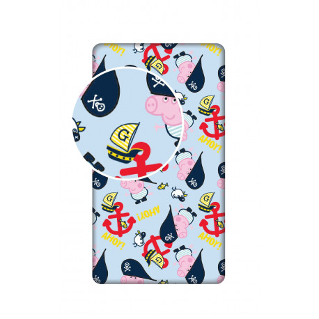 Jerry Fabrics prostěradlo Prasátko Pepina 007, 90 × 200