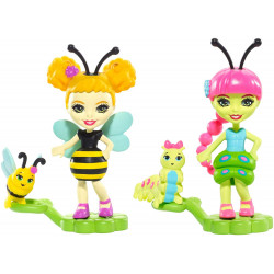 Mattel Enchantimals 2-Pack Cay Caterpillar & Beetrice Bee FXM88