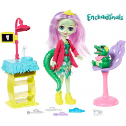 Mattel Enchantimals Zubní ordinace Smilin´Dentist - Andie Alligator & Marshy