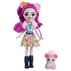 Mattel Enchantimals Panenka se zvířátkem Mayla Mouse & Fondue