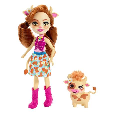 Mattel Enchantimals Panenka se zvířátkem Cailey Cow & Curdle