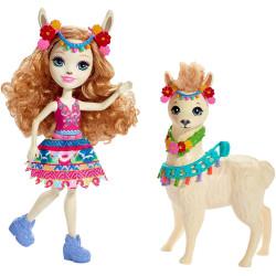 Mattel Enchantimals panenka s lamou Lluella Llama & Fleecy