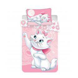 Jerry Fabrics ágynemű Marie Cat pink 100×135 + 40×60