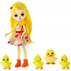 Mattel Enchantimals Rodinka - Dinah Duck s kachničkou a 3 kachňátky