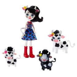 Mattel Enchantimals Rodinka - Cambrie Cow s kravičkou a 2 telátky