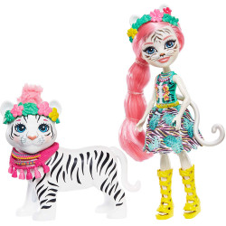 Mattel Enchantimals panenka s tygříkem Tadley Tiger & Kitty