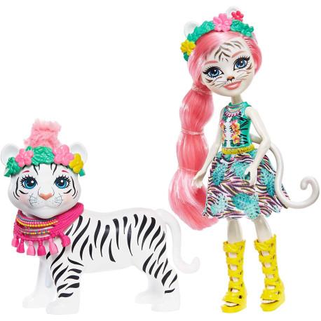Mattel Enchantimals panenka s tygříkem Tadley Tiger & Kitty