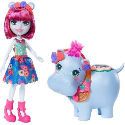 Mattel Enchantimals panenka s hrošíkem Hedda Hippo & Lake