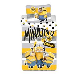 """Jerry Fabrics povlečení Mimoni 2 """"Banana!"""", 140x200 70x90"""